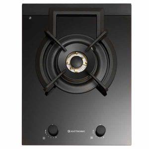 Cooktop Elettromec Dominó Vetro Dual Flame 1 Boca Inox 38cm Bivolt