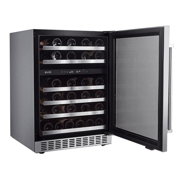 Adega Climatizada Dual Zone Evol 46 Garrafas Inox Porta Reversível 127V