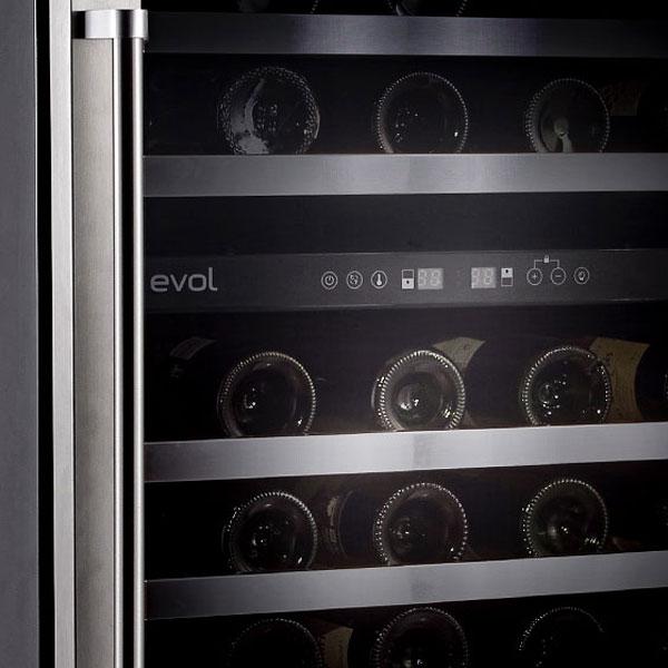 Adega Climatizada Dual Zone Evol 46 Garrafas Inox Porta Reversível
