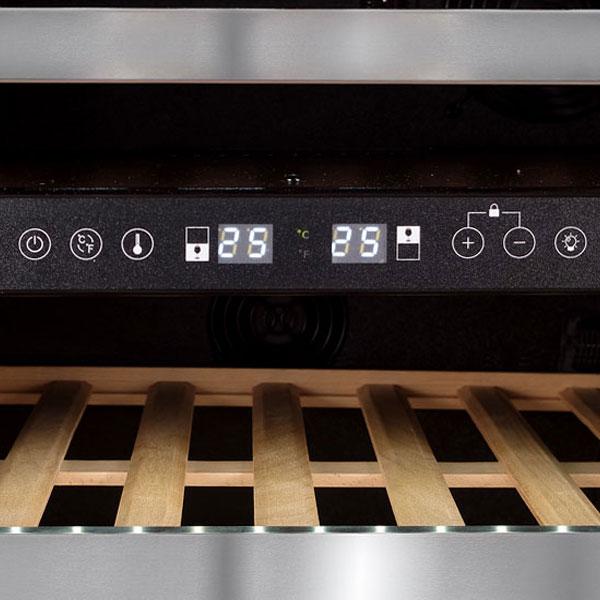 Adega Climatizada Dual Zone Evol 46 Garrafas Inox Porta Reversível 127V - JC-145B127R